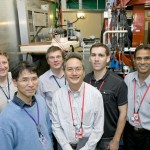 ? (front left), Dr. Nelson Tam - Marvell (front right), and (back row L to R) ?, ?, Dr. Brian Sierawski - ISDE, Dr. Bharat Bhuva - ISDE