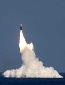 Image: Trident II D5 missile being launched is the primary weapon carried by the US Navy's Ohio-class submarines. Photo: Lockheed Martin.